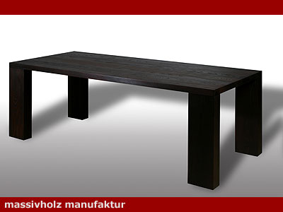 esstisch aurum tisch thermo esche massiv holz massivholz mm m bel nach ma ebay. Black Bedroom Furniture Sets. Home Design Ideas